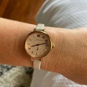 Marc by Marc Jacobs rose gold leather watch